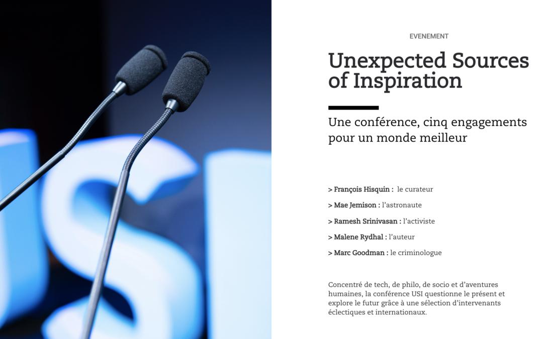 Unexpected Sources of Inspiration : une conférence, cinq engagements pour un monde meilleur