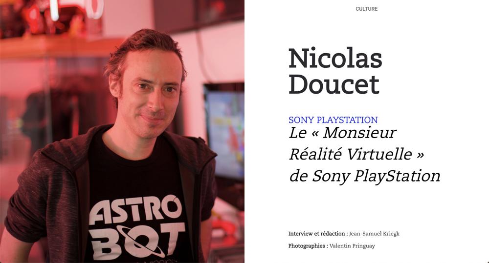 Rencontre avec Nicolas Doucet, le «Monsieur Réalité Virtuelle» de Sony PlayStation