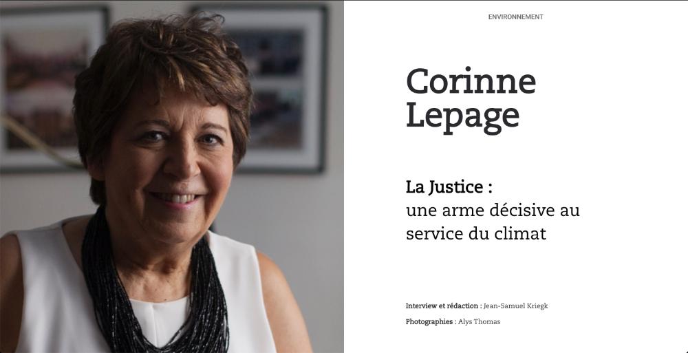 Corinne Lepage. La justice : une arme décisive au service du climat